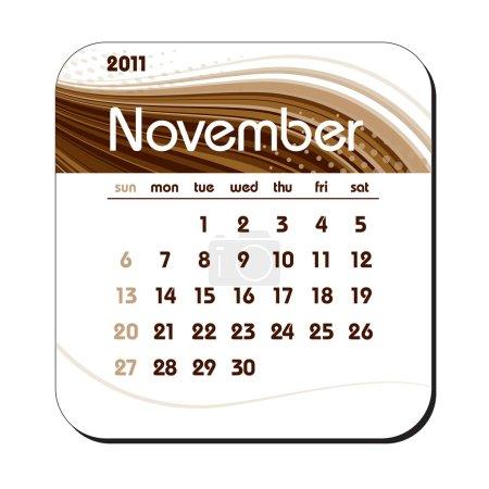 2011 Calendar. November.