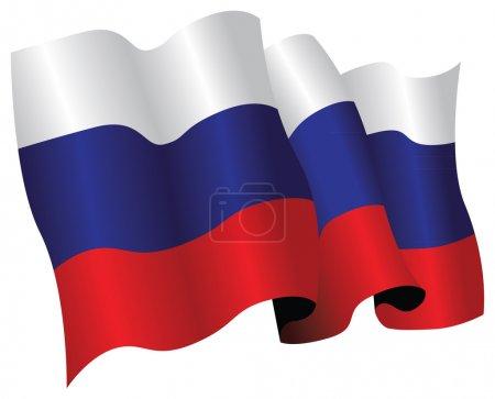 Photo pour Drapeau national de la Russie - image libre de droit