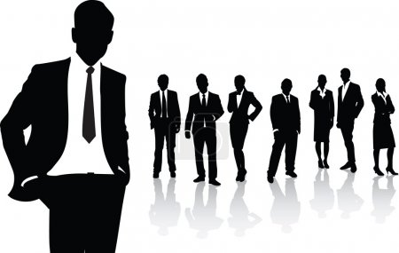 Illustration for Silhouettes of business - Royalty Free Image