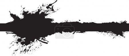 Illustration pour Fond éclaboussé - image libre de droit