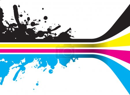 Illustration for Cmyk lines - Royalty Free Image