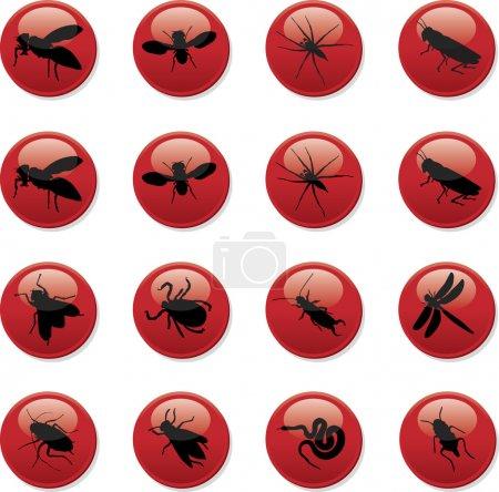 Illustration pour Insectes et rongeurs - image libre de droit