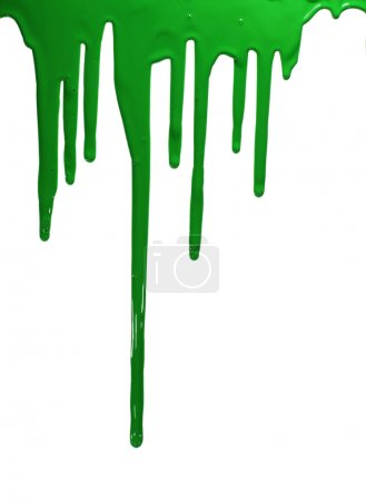 Photo for Green paint isolated on white. - Royalty Free Image