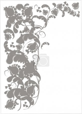 Background delicate gray floral pattern.
