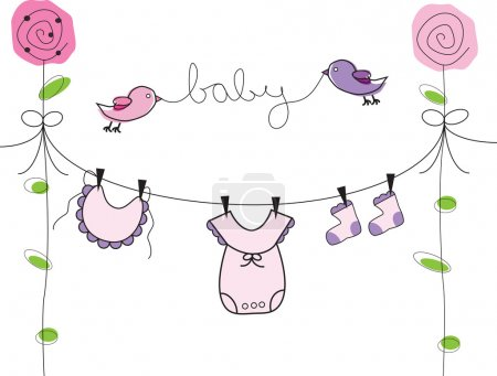 Baby Girl Clothes Line