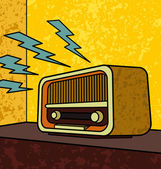 Vector illustration of an old-school radio This image is part of my Vintage Collection