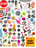 Vector collection with many different shapes and design elements