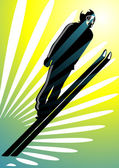 Vector illustration of a silhouette person ski jumping More sport illustrations in my portfolio
