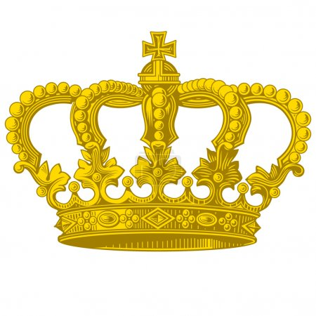 Photo for Vector object vintage golden crown - Royalty Free Image