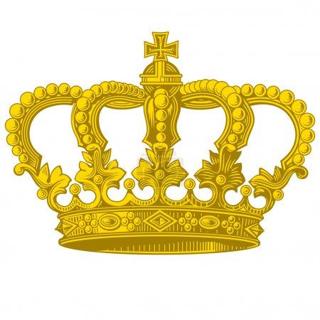 Illustration pour Objet vectoriel vintage couronne dorée - image libre de droit