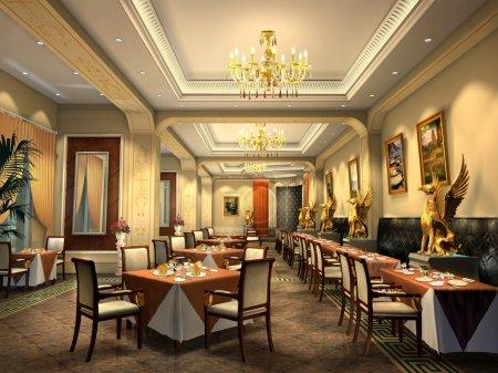 Foto de Restaurante Render 3d - Imagen libre de derechos