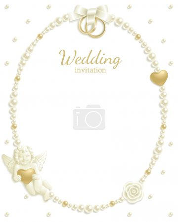Photo for Wedding background with jewels composing a frame for your text - Royalty Free Image