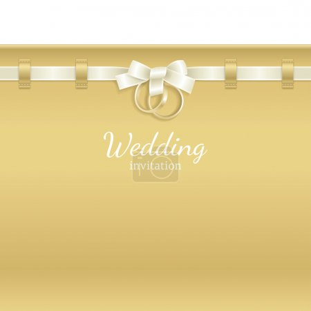 Photo for Wedding background decorated with ribbon and rings - Royalty Free Image