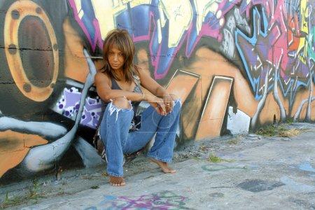 Beautiful Mature Black Woman with Graffiti (4)