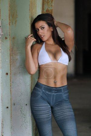 Beautiful Latina at an Abandoned Warehouse (18)