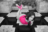 Beautiful Teen Girl in Selective Color
