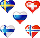 Flags heart