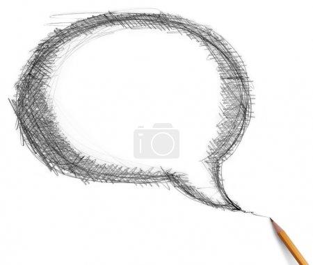 Comics bubble and pencil