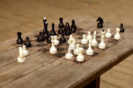 Hand-made chessboard