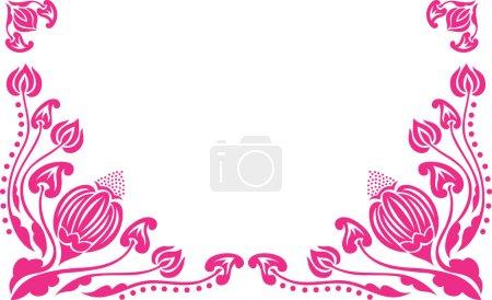 A decorative flowers pattern