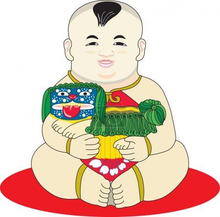 Oriental Chinese boy