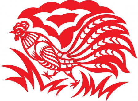 Papercut Rooster
