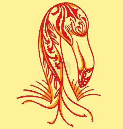 Elegant tattoo Flamingo