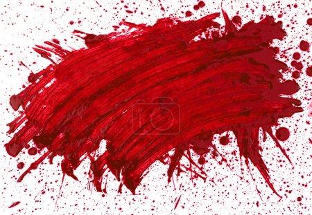 Photo for Abstaract hand drawn watercolor blot, raster illustration - Royalty Free Image