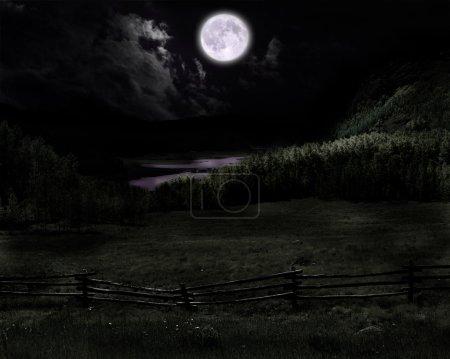 Photo pour Lune ih champ - image libre de droit