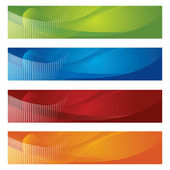 Halftone and gradient banners