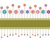 Varrat nélküli színes virág retro határ