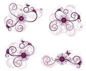 Kolekce prvků květinovým vzorem