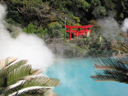 Torii Japanese gate at Beppu Japan's onzen