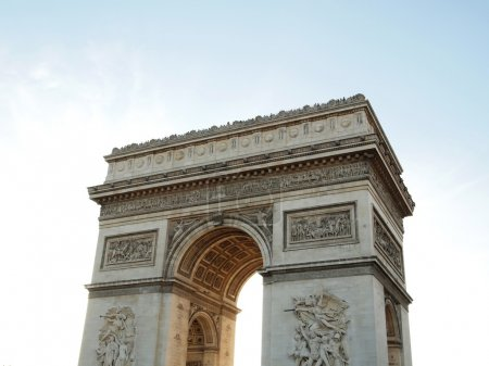 Photo for Triumphal arch , Napoleon Bonaparte at Paris in France , Europe - Royalty Free Image