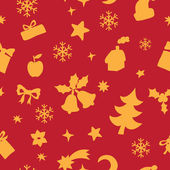 Seamless pattern of Christmas and New Year elements