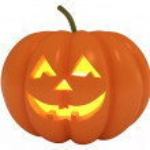 Happy Halloween Pumpkin, Jack O Lantern, with clip...