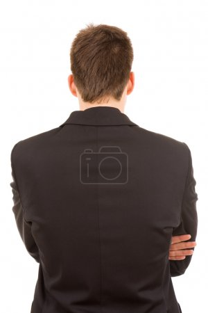 Young business man from back