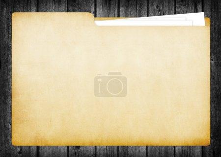 Photo pour Un dossier vide contenant des documents papier - image libre de droit