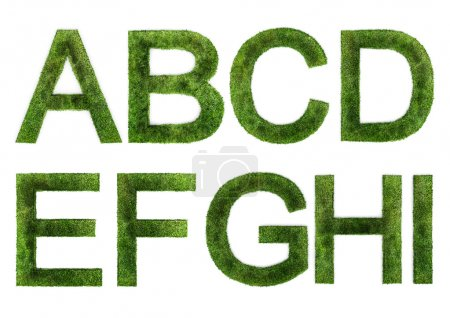 Grass Letters A-I