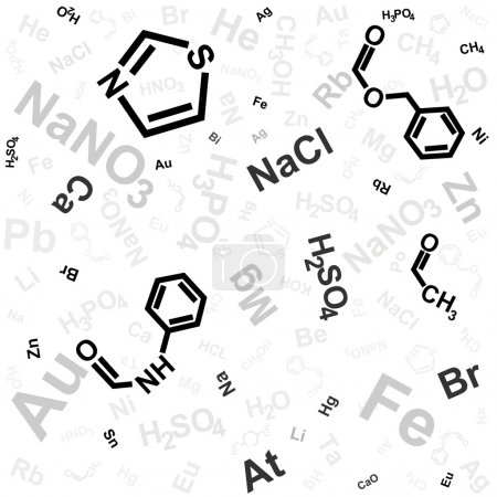 Illustration for Abstract background with chemical formula - Royalty Free Image