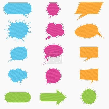 Illustration pour Collection de bulles colorées et ballons de la boîte de dialogue - image libre de droit