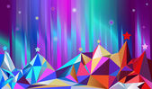 Color montains Vector illustration