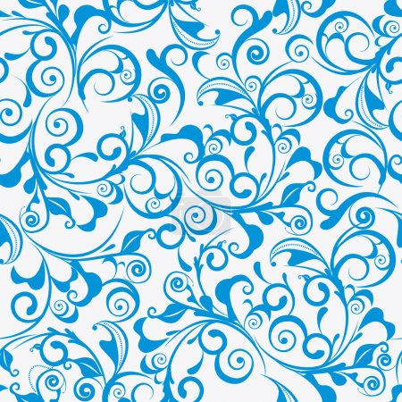 Photo for Light blue vector seamless damask pattern - Royalty Free Image