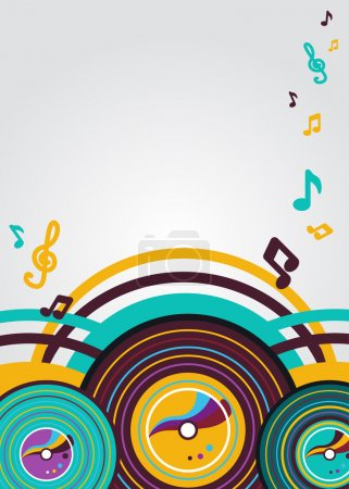 Photo for Abstract vector music background with vynil plates - Royalty Free Image