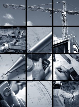 Collage of Construction ambiance