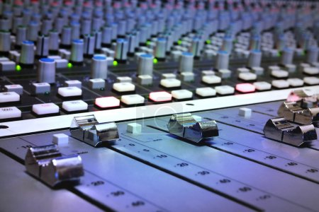 Photo for Recording Studio Mixing Console - Royalty Free Image