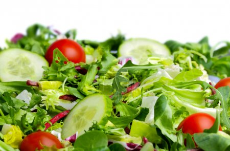 Salad on white background...