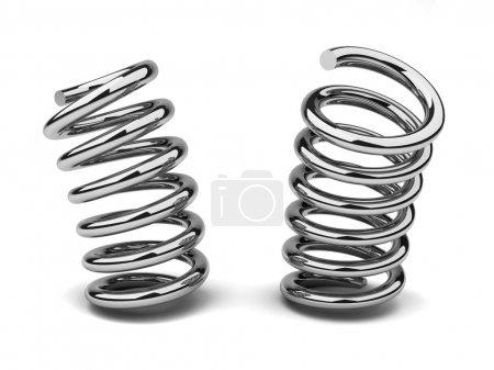 Photo pour Haute qualité d'image d'un ressort courbé, à deux positions - image libre de droit