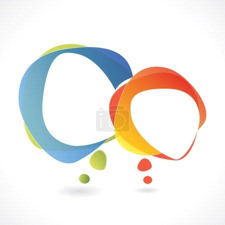 Illustration pour Fond vectoriel bulle vocale avec zone pour votre texte, ajoutez votre titre au-dessus de la bulle droite, et le texte inti les bulles - image libre de droit