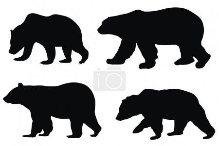 Illustration pour Illustration vectorielle abstraite de divers ours - image libre de droit